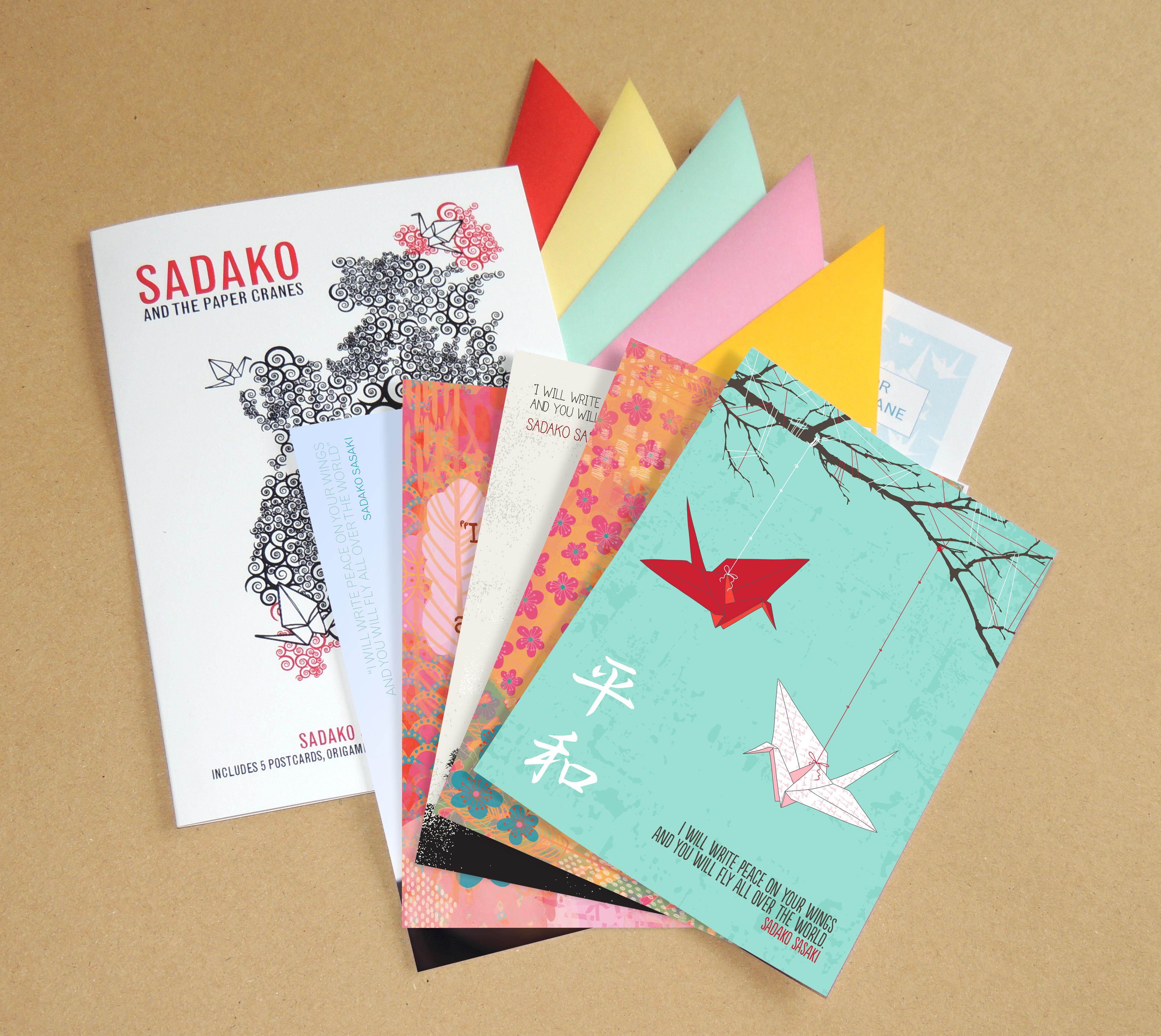 The complete Sadako Sasaki Postcard Pack
